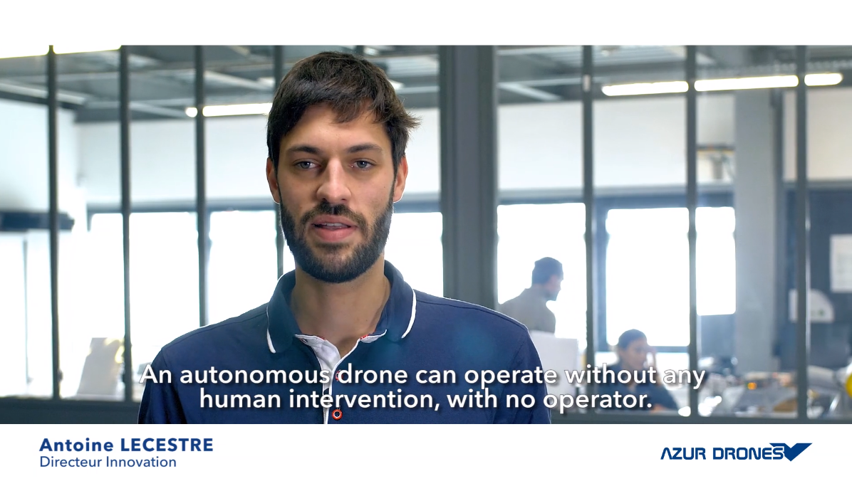 What is an automated drone?
